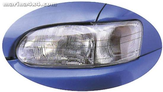 HEADLAMP GUARDS NISSAN NAVARA 1998/02  PROTECTION PHARES PLEXI