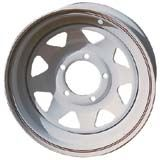 JANTE ACIER BLANCHE 15X7 5 TROUS OFF-10 R.ROVER/DISCOVERY/DEF   - accessoires 4X4 marina