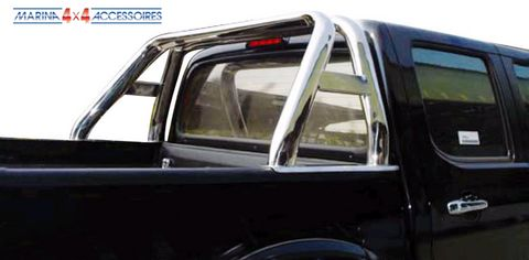 ROLL BAR INOX DOUBLE TUBE OVALE MITSUBISHI L200 2006  DOUBLE CAB