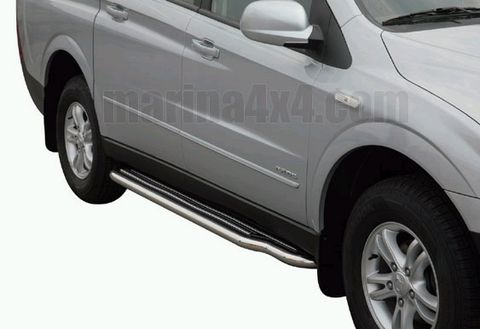 MARCHE-PIEDS INOX Ø50 SSANGYONG ACTYON SPORTS 2007    - accessoires 4X4 marina