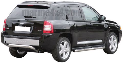PARE CHOC ARRIERE INOX Ø 76 JEEP COMPASS 2007  - accessoires 4x4 marina