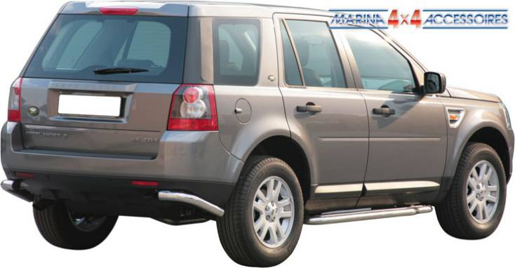 PROTECTION ANGLES DE PARE-CHOC INOX Ø 63 LANDROVER FREELANDER 2 ( X2)