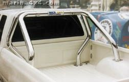 ROLL BAR INOX DOUBLE TUBES Ø 76 TOYOTA HILUX 1998/2005 EXTRA CAB