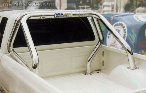 ROLL BAR INOX DOUBLE TUBES Ø 76 MITSUBISHI L200 1992/1997 CLUB CAB