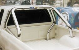ROLL BAR INOX DOUBLE TUBES Ø 76 TOYOTA HILUX 98/04 DBLE CAB