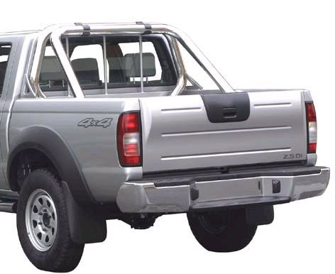 ROLL BAR INOX DOUBLE TUBES Ø 76 FORD RANGER 99/06 IDEM B2500