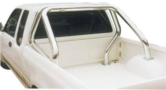 ROLL BAR INOX DBL TUBE Ø 76TOYOTA HILUX  1998/2005 (fixation benne)