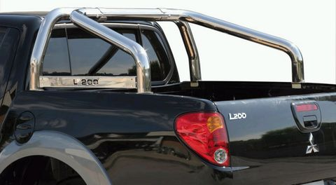 ROLL BAR INOX DBL TUBE Ø 76 MITSUBISHI L200 06  AV MARQUAGE CLUB6CAB