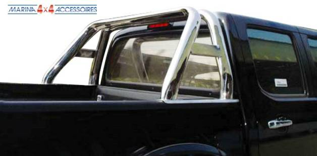ROLL BAR INOX DOUBLE TUBE OVALE TOYOTA HILUX 98/2005